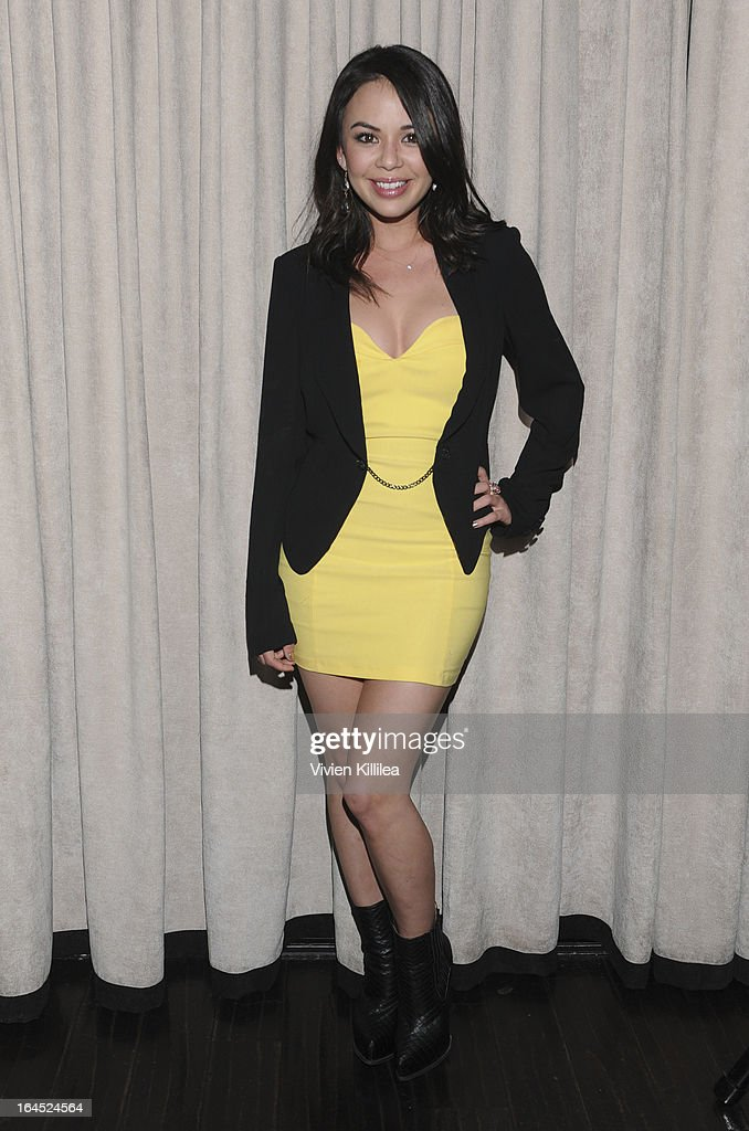 Janel Parrish attends Rock Way Fundraiser at Beso on March 23, 2013 in Hollywood, California.