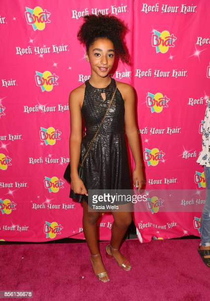 Janelle Batiste at Rock Your Hair Presents Rock Back to School Concert Party on September 30 2017 in Los Angeles California