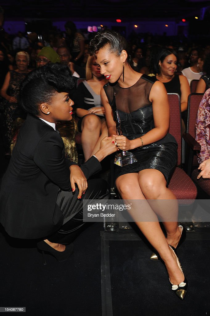 <a gi-track='captionPersonalityLinkClicked' href=/galleries/search?phrase=Janelle+Monae&family=editorial&specificpeople=715847 ng-click='$event.stopPropagation()'>Janelle Monae</a> (L) and <a gi-track='captionPersonalityLinkClicked' href=/galleries/search?phrase=Alicia+Keys&family=editorial&specificpeople=169877 ng-click='$event.stopPropagation()'>Alicia Keys</a> attend BET's Black Girls Rock 2012 at Paradise Theater on October 13, 2012 in New York City.