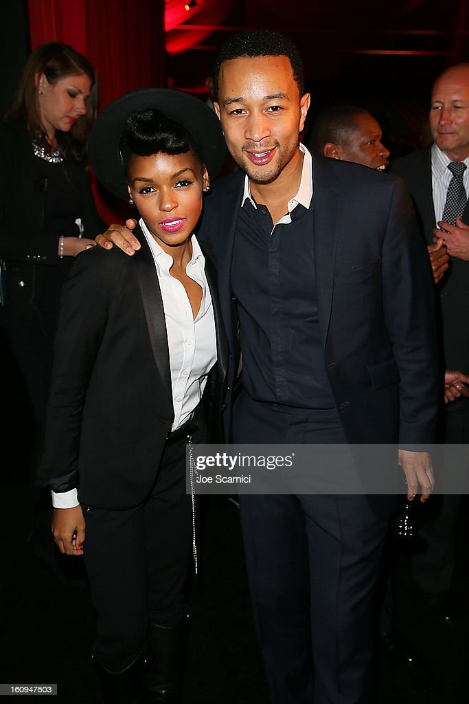 <a gi-track='captionPersonalityLinkClicked' href=/galleries/search?phrase=Janelle+Monae&family=editorial&specificpeople=715847 ng-click='$event.stopPropagation()'>Janelle Monae</a> and <a gi-track='captionPersonalityLinkClicked' href=/galleries/search?phrase=John+Legend&family=editorial&specificpeople=201468 ng-click='$event.stopPropagation()'>John Legend</a> attend Delta Air Lines' GRAMMY Celebration At Getty House on February 7, 2013 in Los Angeles, California.