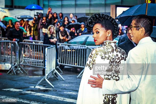 Janelle Monae and Tadashi Shoji arrive at the 2015 CFDA Fashion Awards at Alice Tully Hall at Lincoln Center on June 1 2015 in New York City