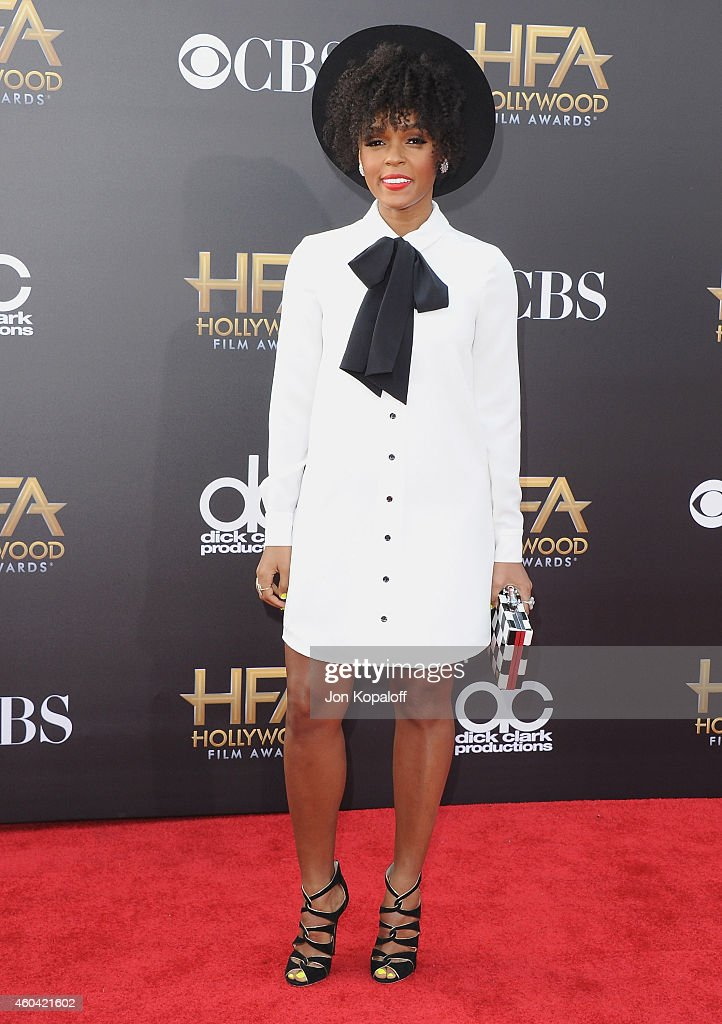 Janelle Monae arrives at the 18th Annual Hollywood Film Awards at Hollywood Palladium on November 14 2014 in Hollywood California