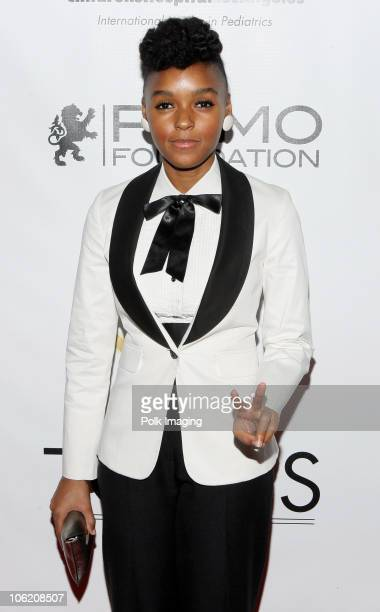 Janelle Monae arrives to TONYS Grand Opening Benefit for Childrens Hospital Los Angeles at TONYS in West Hollywood CA on February 5 2009