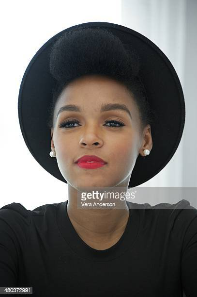 Janelle Monae at the 'Rio 2' Press Conference at the Fontainebleau Hotel on March 23 2014 in Miami Beach Florida