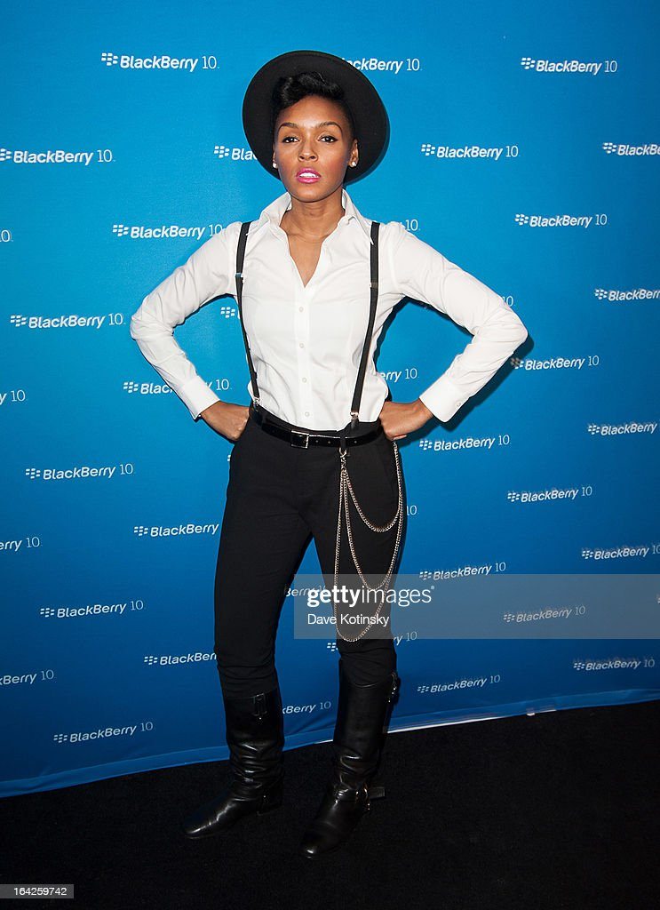 Janelle Monae attends BlackBerry Z10 Launch Event at Best Buy Theater on March 21 2013 in New York City