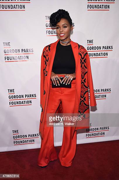 Janelle Monae attends the 2015 Gordon Parks Foundation Awards Dinner And Auction at Cipriani Wall Street on June 2 2015 in New York City