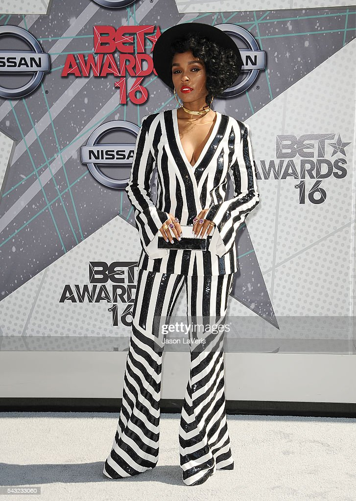 <a gi-track='captionPersonalityLinkClicked' href=/galleries/search?phrase=Janelle+Monae&family=editorial&specificpeople=715847 ng-click='$event.stopPropagation()'>Janelle Monae</a> attends the 2016 BET Awards at Microsoft Theater on June 26, 2016 in Los Angeles, California.