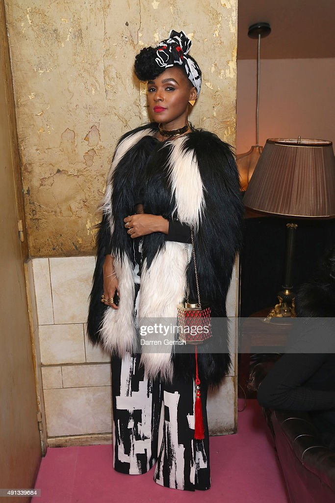 Janelle Monae attends the Alexander McQueen/ AnOther Magazine After Partyas part of the Paris Fashion Week Womenswear Spring/Summer 2016 on October 4...