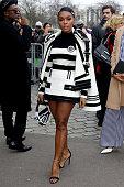 Balmain : Outside Arrivals - Paris Fashion Week...