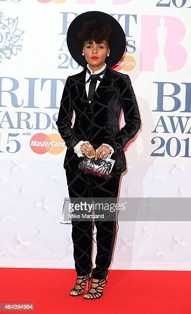 Janelle Monae attends the BRIT Awards 2015 at The O2 Arena on February 25 2015 in London England