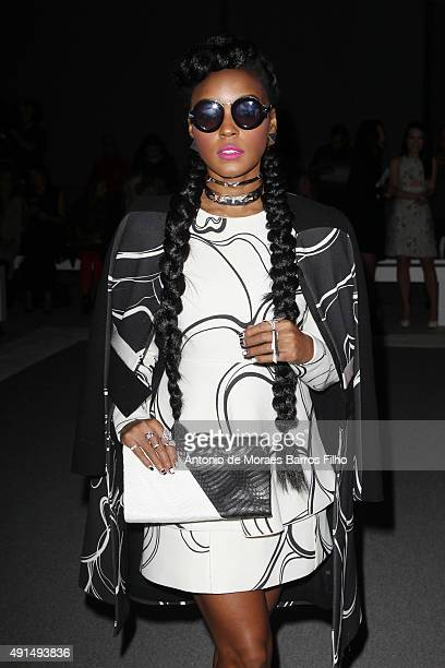 Janelle Monae attends the Giambattista Valli show as part of the Paris Fashion Week Womenswear Spring/Summer 2016 on October 5 2015 in Paris France