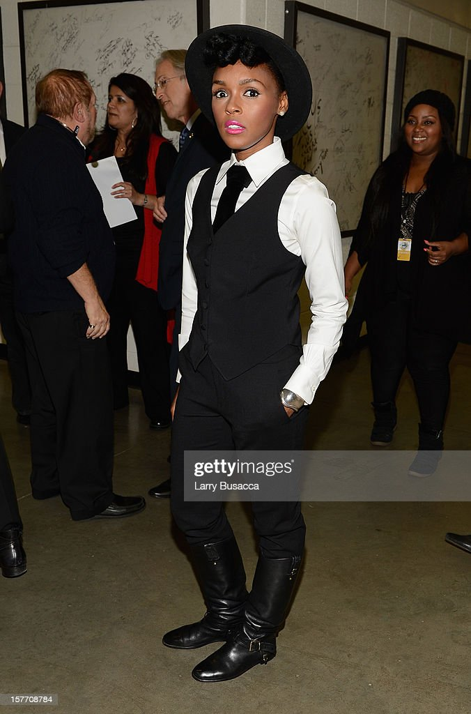 <a gi-track='captionPersonalityLinkClicked' href=/galleries/search?phrase=Janelle+Monae&family=editorial&specificpeople=715847 ng-click='$event.stopPropagation()'>Janelle Monae</a> attends The GRAMMY Nominations Concert Live!! held at Bridgestone Arena on December 5, 2012 in Nashville, Tennessee.