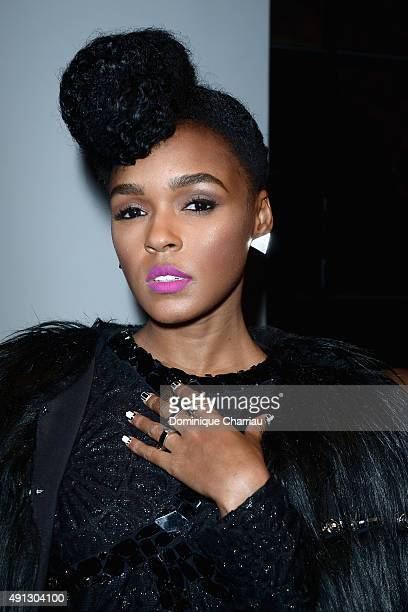 Janelle Monae attends the John Galliano show as part of the Paris Fashion Week Womenswear Spring/Summer 2016 on October 4 2015 in Paris France