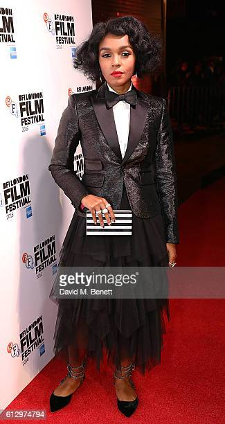 Janelle Monae attends the 'Moonlight' Official Competition screening during the 60th BFI London Film Festival at Embankment Garden Cinema on October...