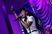 Janelle Monae performs at the Clinton Global Citizen Awards during the second day of the 2015 Clinton Global Initiative's Annual Meeting at the...