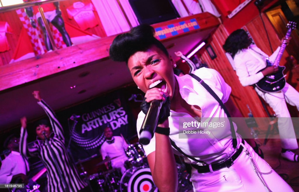 <a gi-track='captionPersonalityLinkClicked' href=/galleries/search?phrase=Janelle+Monae&family=editorial&specificpeople=715847 ng-click='$event.stopPropagation()'>Janelle Monae</a> performs at the Old Oak as part of the fifth annual Arthur's Day celebrations on September 26, 2013 in Cork, Ireland. Arthur's Day sees fans come together to experience live music and cultural events in over 500 pubs around Ireland. This year Arthur's Day will spread beyond music to support, promote and showcase Ireland's innovators, artists, poets, writers and culinary experts. It promises to be an extraordinary night, featuring performances from hundreds of home grown acts, rising stars and other internationally renowned artists such as, The Script, James Vincent McMorrow, The Original Rudeboys, Girl Band, Bouts, Le Galaxie, Ham Sandwich, Daley, Manic Street Preachers, Emeli Sande, <a gi-track='captionPersonalityLinkClicked' href=/galleries/search?phrase=Janelle+Monae&family=editorial&specificpeople=715847 ng-click='$event.stopPropagation()'>Janelle Monae</a>, Biffy Clyro, Kodaline, Iggy Azalea and the legendary Bobby Womack. For more information visit www.guinness.com or www.facebook.com/Guinnessireland