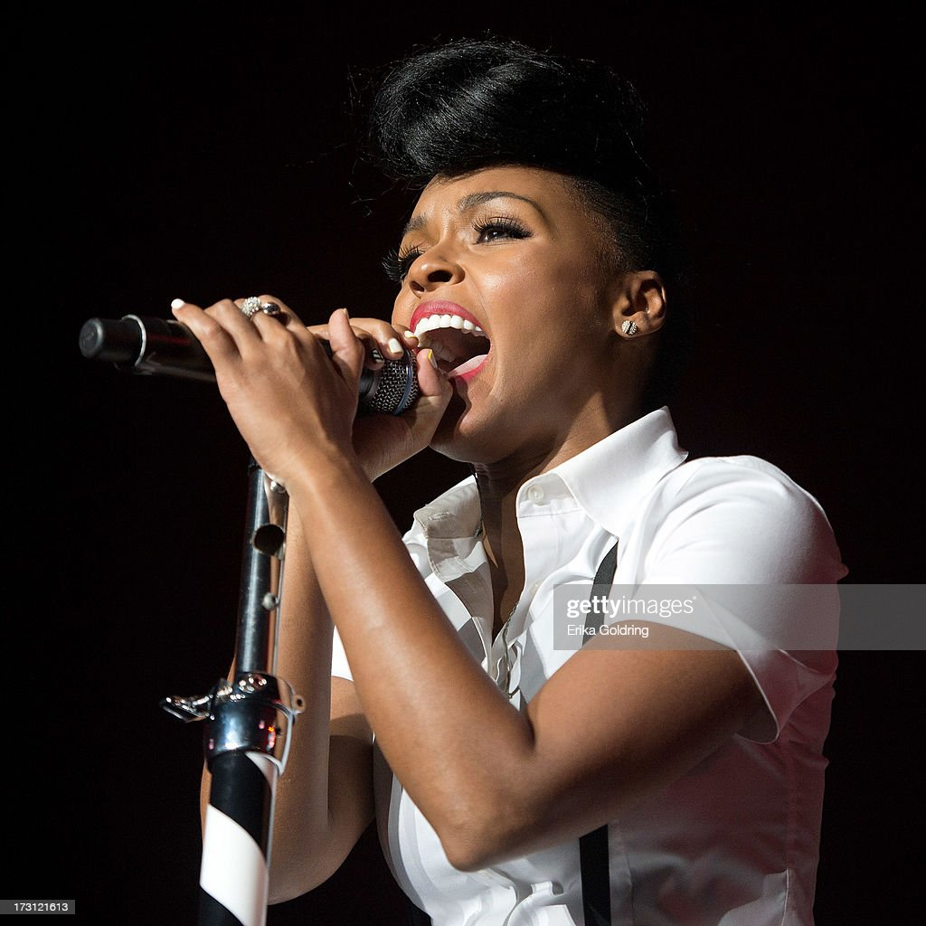 Janelle Monae performs during the 2013 Essence Festival at the Mercedes-Benz Superdome on July 7, 2013 in New Orleans, Louisiana.