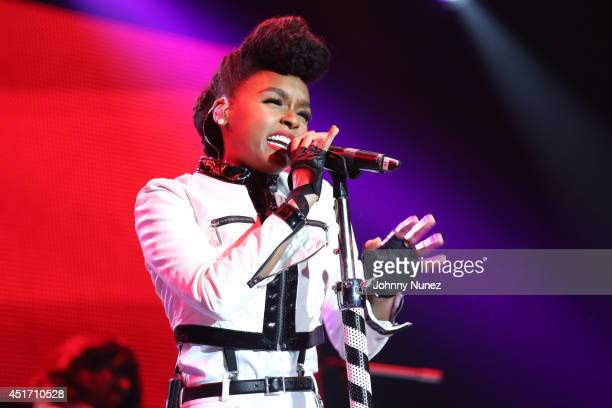 Janelle Monae performs during the 2014 Essence Music Festival on July 4 2014 in New Orleans Louisiana