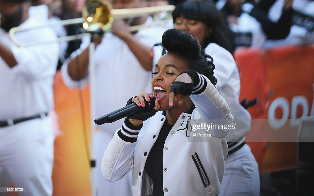 <a gi-track='captionPersonalityLinkClicked' href=/galleries/search?phrase=Janelle+Monae&family=editorial&specificpeople=715847 ng-click='$event.stopPropagation()'>Janelle Monae</a> performs on NBC's 'Today' at Rockefeller Plaza on April 9, 2014 in New York City.