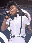 Janelle Monae performs onstage at 11th Annual Jazz In The Gardens Music Festival Day 2 at Sunlife Stadium on March 20 2016 in Miami Florida