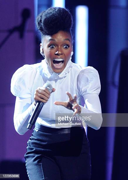 Janelle Monae performs onstage during the 2010 BET Awards held at the Shrine Auditorium on June 27 2010 in Los Angeles California
