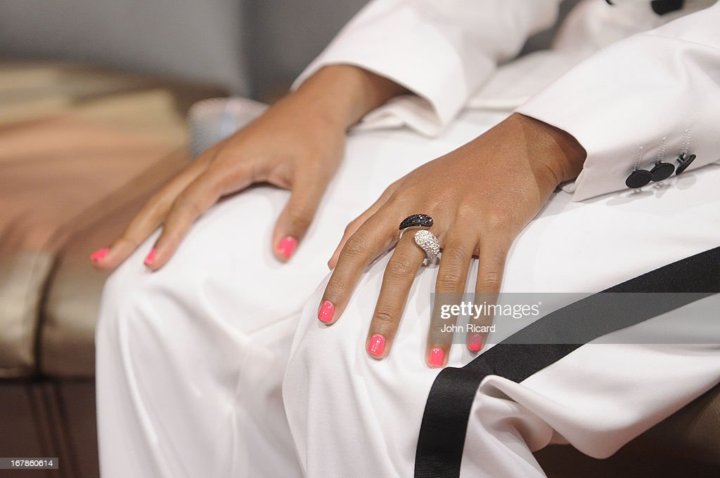 <a gi-track='captionPersonalityLinkClicked' href=/galleries/search?phrase=Janelle+Monae&family=editorial&specificpeople=715847 ng-click='$event.stopPropagation()'>Janelle Monae</a> (nail and jewelry detail) visits BET's '106 & Park' at BET Studios on May 1, 2013 in New York City.