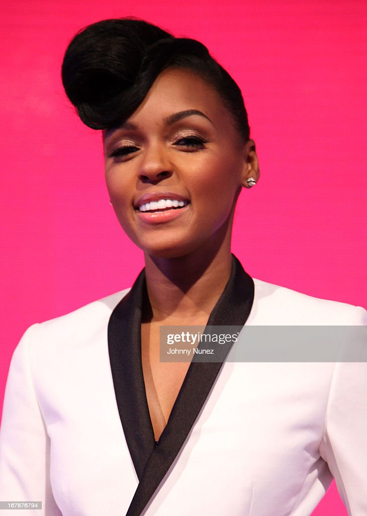 <a gi-track='captionPersonalityLinkClicked' href=/galleries/search?phrase=Janelle+Monae&family=editorial&specificpeople=715847 ng-click='$event.stopPropagation()'>Janelle Monae</a> visits BET's '106 & Park' at BET Studios on May 1, 2013 in New York City.