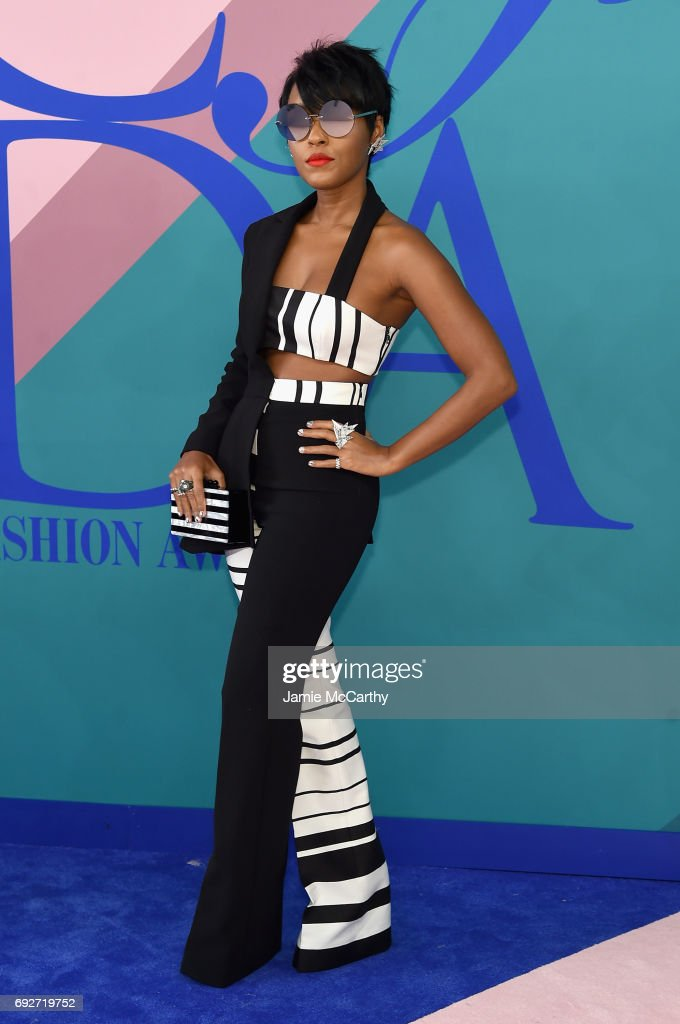 Janelle Monáe attends the 2017 CFDA Fashion Awards at Hammerstein Ballroom on June 5, 2017 in New York City.