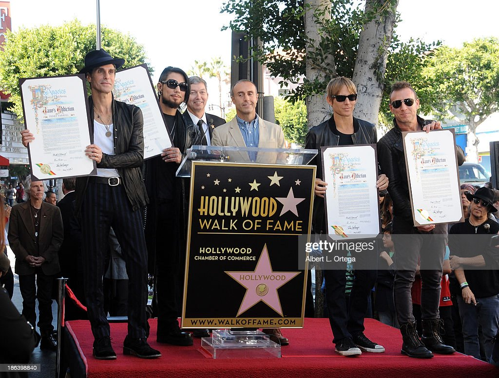 Jane's Addiction Honored On The Hollywood Walk Of Fame on October 30, 2013 in Hollywood, California.
