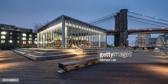 Jane's Carousel and Brooklyn Bridge Park - New York : Stock Photo