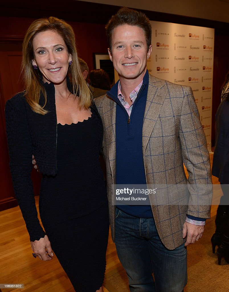 Janet Crown (L) and television personality <a gi-track='captionPersonalityLinkClicked' href=/galleries/search?phrase=Billy+Bush&family=editorial&specificpeople=742677 ng-click='$event.stopPropagation()'>Billy Bush</a> attend the Faconnable Kicks Off The Holidays Shopping Event Benefitting Lollipop Theater Network at Faconnable on November 13, 2012 in Beverly Hills, California.
