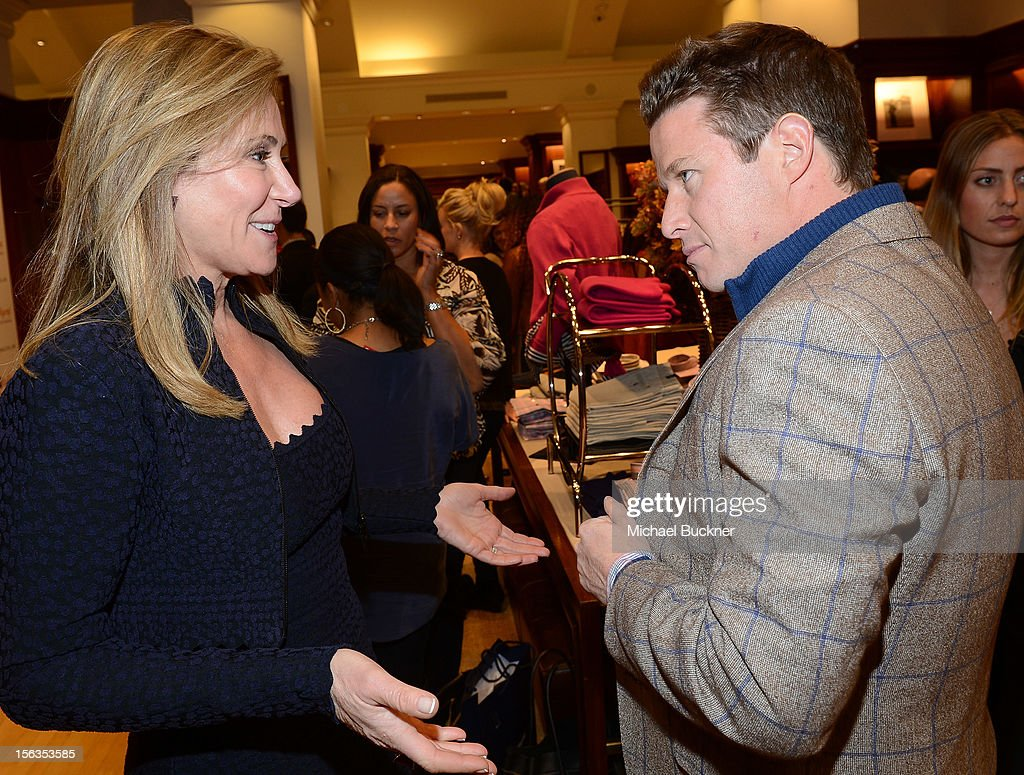 Janet Crown (L) and television personality Billy Bush attend the Faconnable Kicks Off The Holidays Shopping Event Benefitting Lollipop Theater Network at Faconnable on November 13, 2012 in Beverly Hills, California.