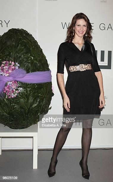 Janet De Nardis attends 'L'Arte Nell'Uovo Di Pasqua' Charity Event at the White Gallery on March 24 2010 in Rome Italy
