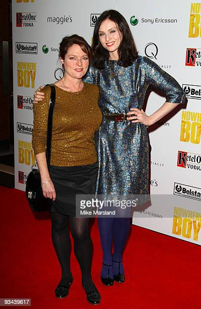 Janet Ellis and Sophie EllisBextor attends the London Premiere hosted by Quintessentially of 'Nowhere Boy' at BAFTA on November 26 2009 in London...