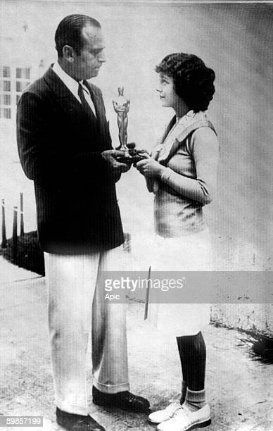 Janet Gaynor receiving academy award for best actress in film Sunny Side Up 1929