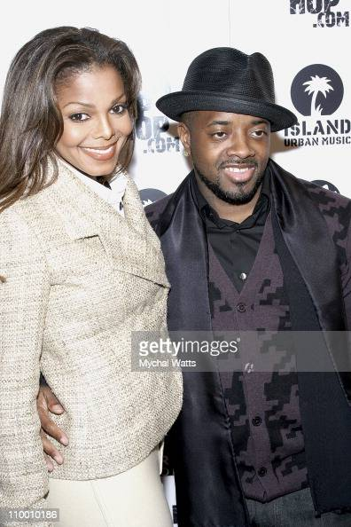 Janet Jackson and Jermaine Dupri at Bud Select Presents Jermaine Dupri's Young Rich and Dangerous Book Release at Marquee on October 15 2007 in New...