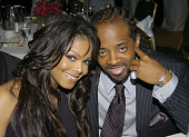 Janet Jackson and Jermaine Dupri during Human Rights Campaign Honors Barbra Streisand Show and Audience at Century Plaza Hotel in Los Angeles...