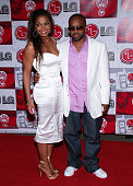Janet Jackson and Jermaine Dupri during LG Jermaine Dupri Launch New Fusic Arrivals at Day After Nightclub in Hollywood California United States