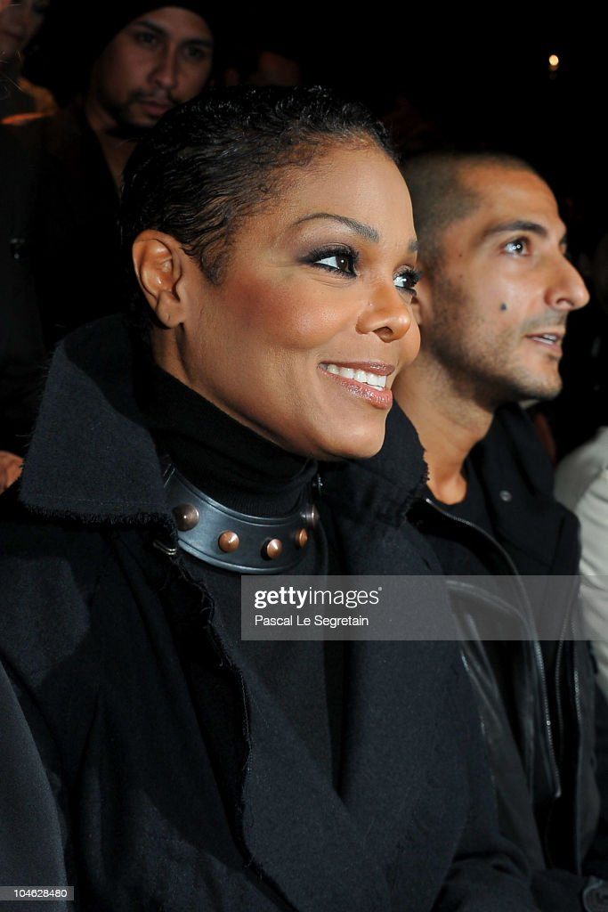 Janet Jackson and Wissam Al Mana arrive for the Lanvin Ready to Wear Spring/Summer 2011 show during Paris Fashion Week at Halle Freyssinet on October 1, 2010 in Paris, France.