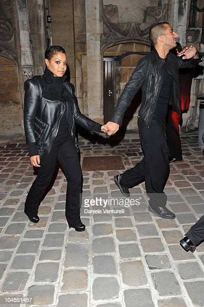 Janet Jackson and Wissam Al Mana attend Roberto Cavalli Party Range Rover Outside Arrivals PFW S/S 2011 at Les BeauxArts de Paris on September 29...