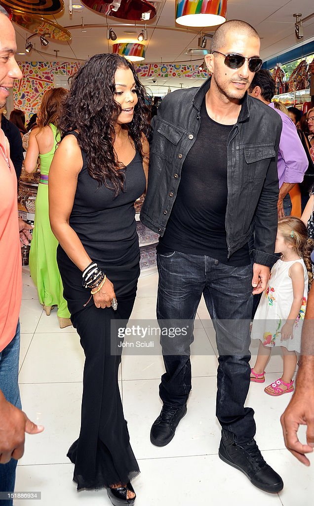 Janet Jackson and Wissam Al Mana attend the Dylan's Candy Bar Los Angeles Opening at Original Farmers Market on September 8, 2012 in Los Angeles, California.