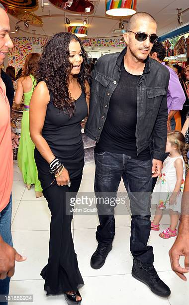 Janet Jackson and Wissam Al Mana attend the Dylan's Candy Bar Los Angeles Opening at Original Farmers Market on September 8 2012 in Los Angeles...