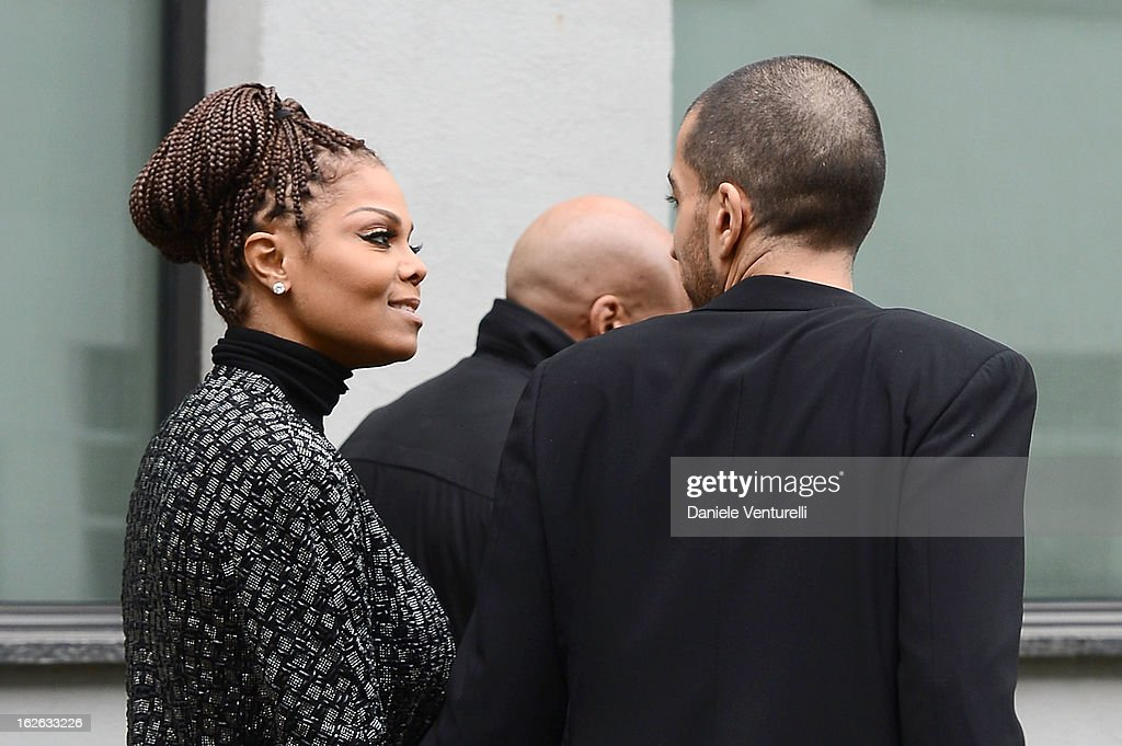 Janet Jackson and Wissam al Mana attend the Giorgio Armani fashion show during Milan Fashion Week Womenswear Fall/Winter 2013/14 on February 25, 2013 in Milan, Italy.