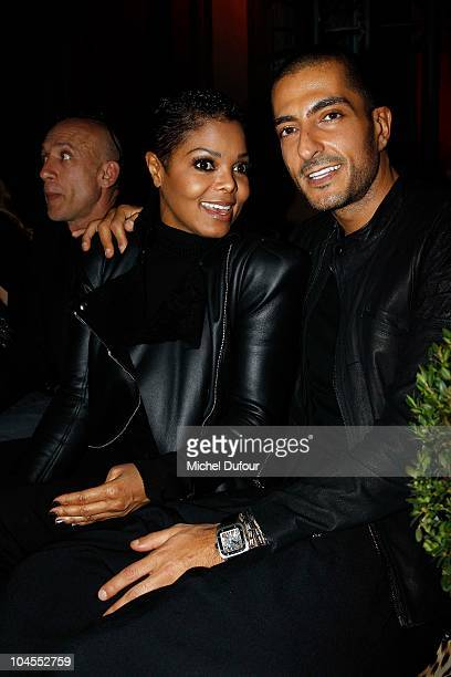 Janet Jackson and Wissam Al Mana attend the Roberto Cavalli party 40 anniversary at Les BeauxArts de Paris on September 29 2010 in Paris France