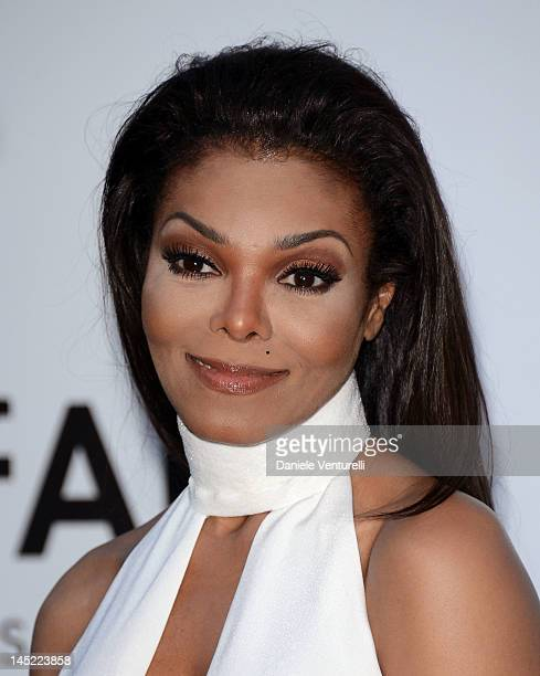 Janet Jackson arrives at 2012 amfAR's Cinema Against AIDS during the 65th Annual Cannes Film Festival at Hotel Du Cap on May 24 2012 in Cap D'Antibes...