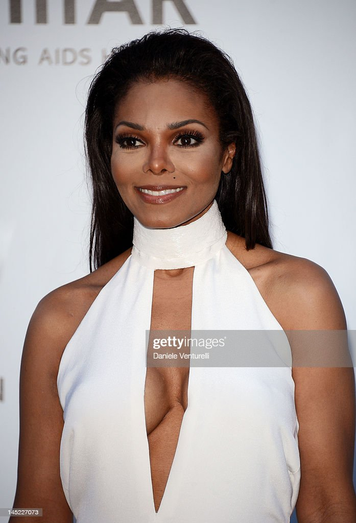 Janet Jackson arrives at 2012 amfAR's Cinema Against AIDS during the 65th Annual Cannes Film Festival at Hotel Du Cap on May 24, 2012 in Cap D'Antibes, France.