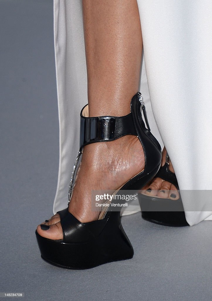 Janet Jackson (shoe detail) arrives at 2012 amfAR's Cinema Against AIDS during the 65th Annual Cannes Film Festival at Hotel Du Cap on May 24, 2012 in Cap D'Antibes, France.