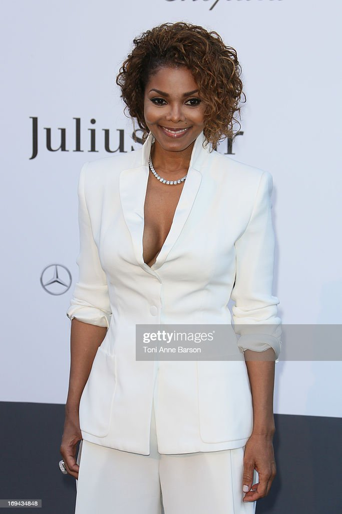 Janet Jackson arrives at amfAR's 20th Annual Cinema Against AIDS at Hotel du Cap-Eden-Roc on May 23, 2013 in Cap d'Antibes, France.