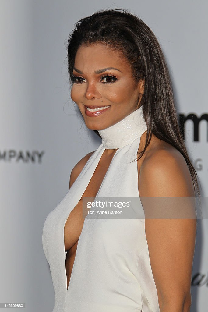 Janet Jackson arrives at amfAR's Cinema Against AIDS at Hotel Du Cap on May 24, 2012 in Antibes, France.