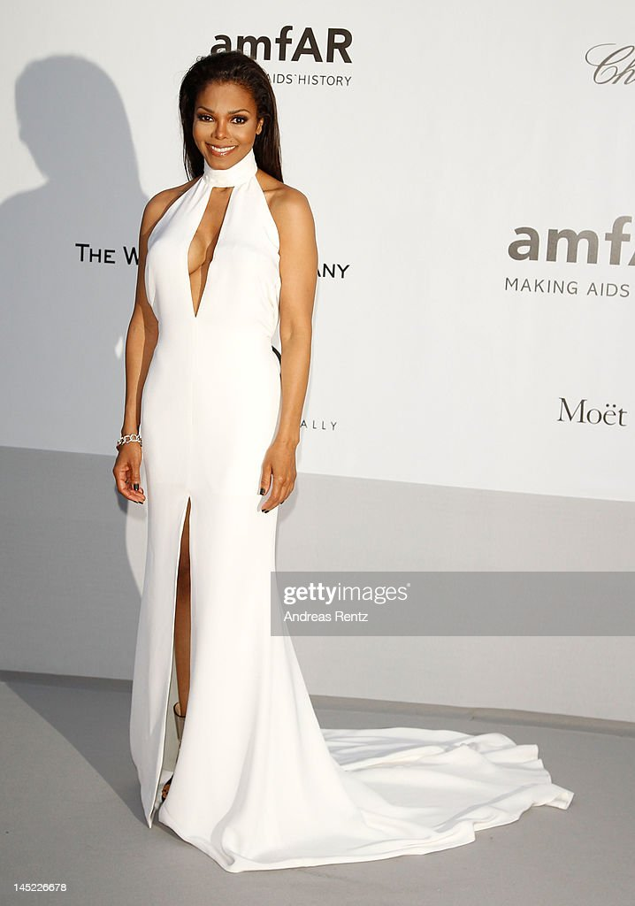 Janet Jackson arrives at the 2012 amfAR's Cinema Against AIDS during the 65th Annual Cannes Film Festival at Hotel Du Cap on May 24, 2012 in Cap D'Antibes, France.